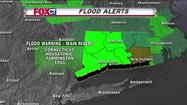 Flood warnings remain in effect for Connecticut's largest rivers as a last batch of heavy rain moves through the state Friday morning.