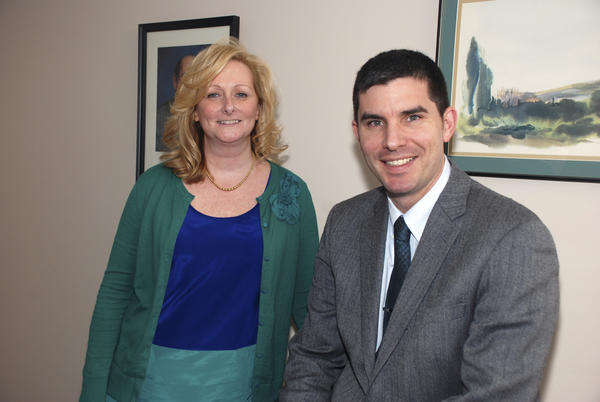 "Wendy Martinson of West Hartford, a registered nurse and quality assurance specialist at the University of Connecticut Health Center, has been named a 2013 ""Healthcare Hero"" by the Connecticut Hospital Association. She is pictured with Jason Ryan, the cardiologist who nominated her."