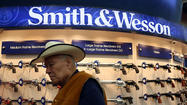 Firearm maker Smith & Wesson Holding Corp. said its fiscal fourth-quarter results may exceed Wall Street expectations as Americans continued to buy weapons amid a countrywide debate over gun control.