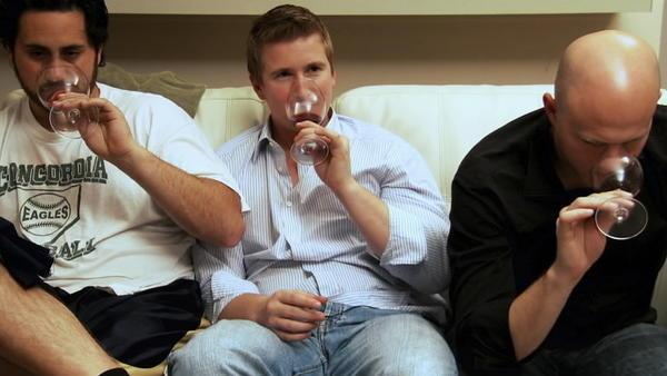 "Brian McClintic, Ian Cauble and Dustin Wilson in ""Somm."""