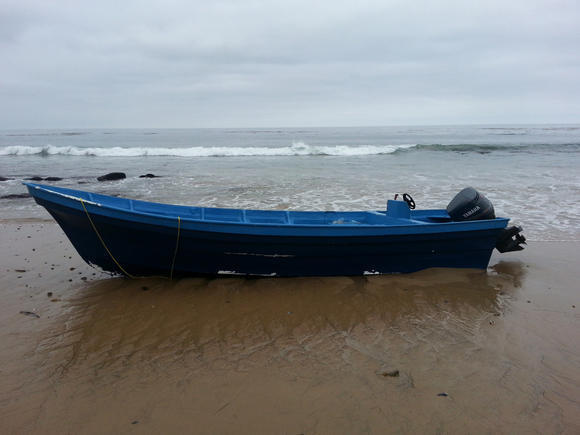 Border Patrol agents intercepted a boat that came ashore near Crystal Cove State Beach carrying 24 passengers.