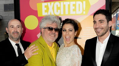Pedro Almodovar at L.A. Film Fest opening of 'I'm So Excited'