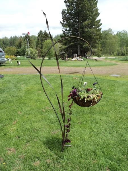 Victorian plant stands are some of the signature works of Otto Bacon on display at Three Pines Studio in Cross Village.