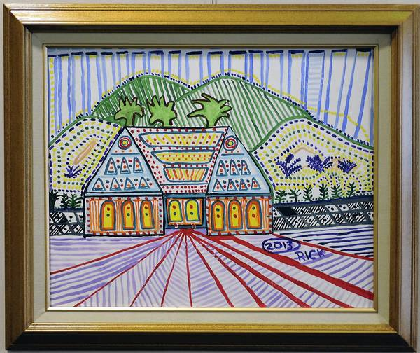 """House on the Hill"" by Rick Bogdanoff, 59. A former accountant, Bogdanoff was only 57 when diagnosed with Alzheimer's disease."