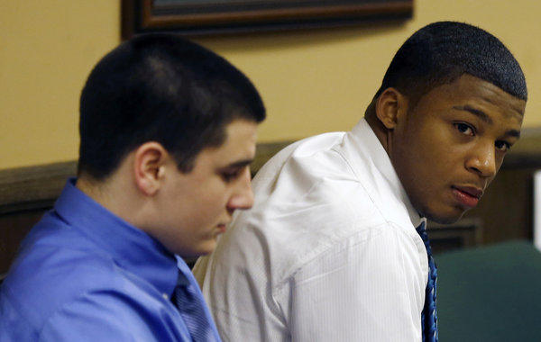 Trent Mays, left, and co-defendant Ma'lik Richmond.