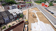 A new urban park is bringing a patch of green to a once-blighted corner of Broadway East, a project organizers hope can be a model for improving the quality of life and reducing pollution in other distressed Baltimore neighborhoods.