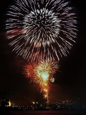 The Living Social discount ticket to the Queen Mary in Long Beach on the Fourth of July includes fireworks.