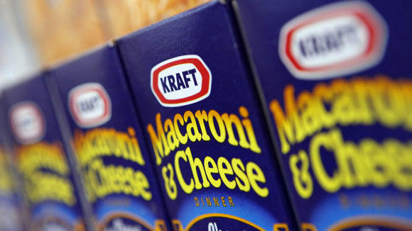 Macaroni & Cheese is displayed in the Kraft Foods headquarters in a 2009 file photo.