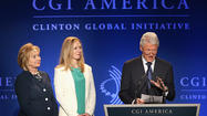 Clinton Global Initiative America meeting leaving Chicago