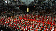 A 19-year-old man charged with disorderly conduct after allegedly throwing a punch this week during the Parkland High School graduation ceremony said Friday he didn't start the fight.