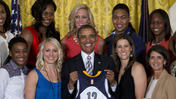 Obama Welcomes WNBA Champions to White House