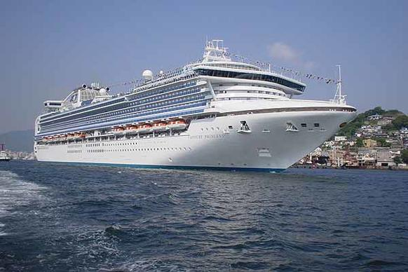 The Princess Cruises Sapphire Princess went into dry dock in January 2012 for new amenities.