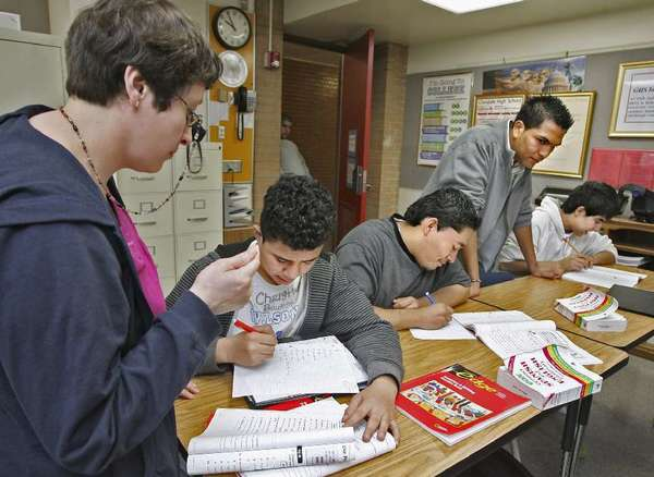 English language learners are tutored at Glendale High School in this file photo from 2010.