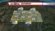 "<span style=""font-size: small;"">Storms will be possible overnight, including the Wichita and Salina area after Midnight.  Lows will drop to the 60s and 70s.</span>"