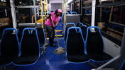 CTA bus cleaning is detail-focused