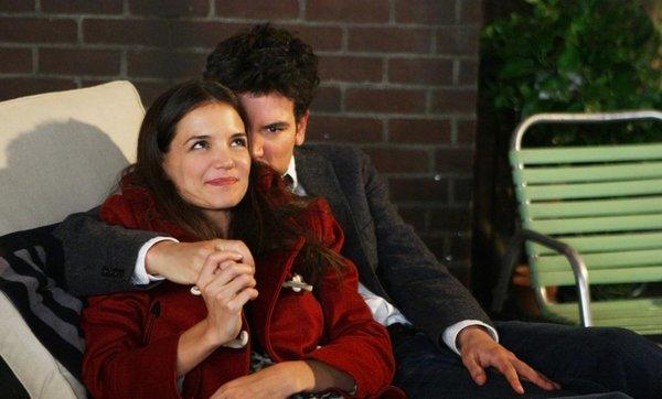 "A scene from the CBS series ""How I Met Your Mother"" with Ted (Josh Radnor) and Naomi (Katie Holmes). Illegal copies of the TV show were distributed through the website mediamp4.com."