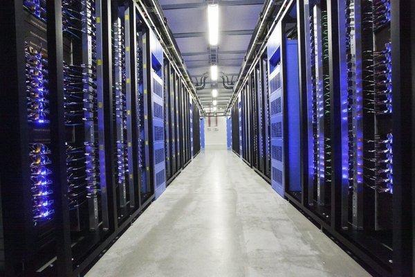 Facebook's computer servers in a data center in Sweden.