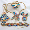 1970's Egyptian-style enameled jewelry.
