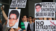 "HONG KONG -- Chanting ""No extradition"" and ""Shame on the U.S. government,"" hundreds of people took to the rainy streets of Hong Kong on Saturday to voice solidarity with Edward Snowden and denounce the United States as a hypocritical ""big brother"" whose cyber-surveillance activities rival those of the Chinese government."