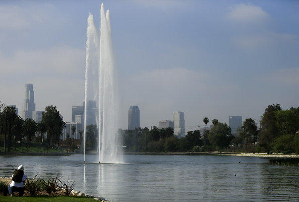 Echo Park Lake's two-year, $45-million makeover is complete.
