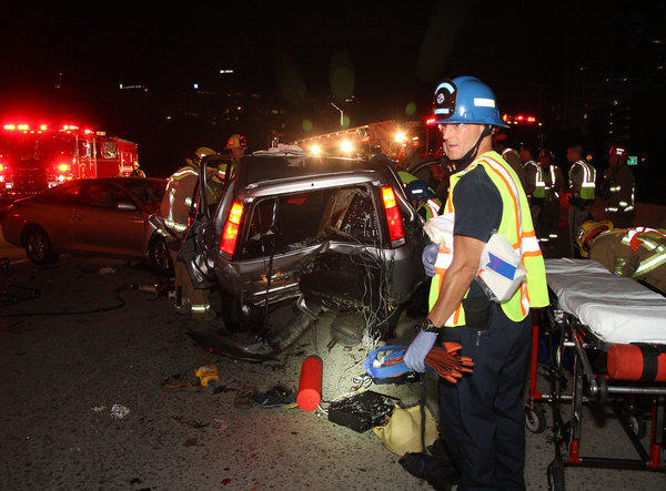 A man who attempted to reach the center divider of the 134 Freeway in Glendale early Saturday morning was killed after he was struck twice by oncoming traffic.