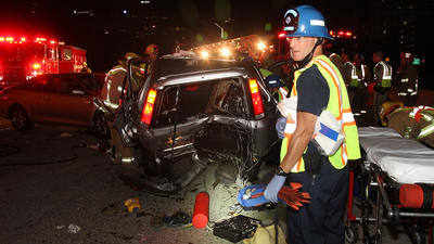 Man struck, killed after crash on Ventura Freeway