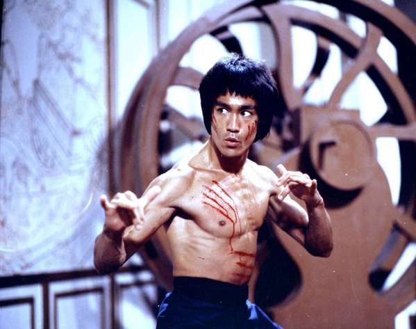 "Bruce Lee pictured in 1973's ""Enter the Dragon."""