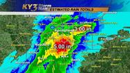 SPRINGFIELD, Mo. - A large storm system dumped as many as nine inches of rain into the early afternoon in portions south Springfield and areas of Greene County, causing major flash flooding over roads and into homes.