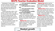 While debate continues over whether local or state education officials should determine how teachers are evaluated, teachers in Washington County Public Schools will have a new evaluation model for the coming school year that will hold them accountable for student achievement.
