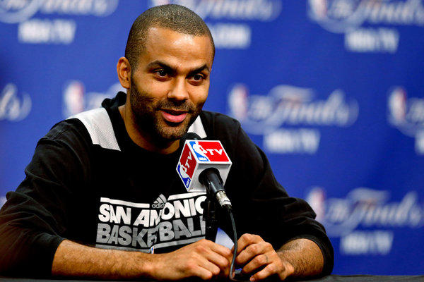 Spurs point guard Tony Parker before Game 5.