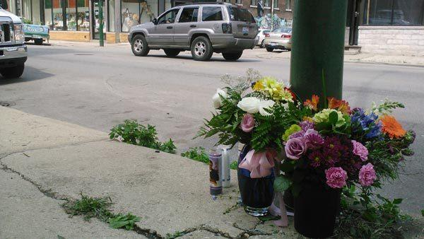 Location where Carissa Hinz was struck by a hit-and-run vehicle on Friday evening in the Bridgeport neighborhood.