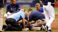 Rays' Cobb out of hospital after taking liner off head