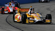WEST ALLIS, Wis. — Ryan Hunter-Reay got a jump on Father's Day, sharing winner's circle glory with his infant son on Saturday.
