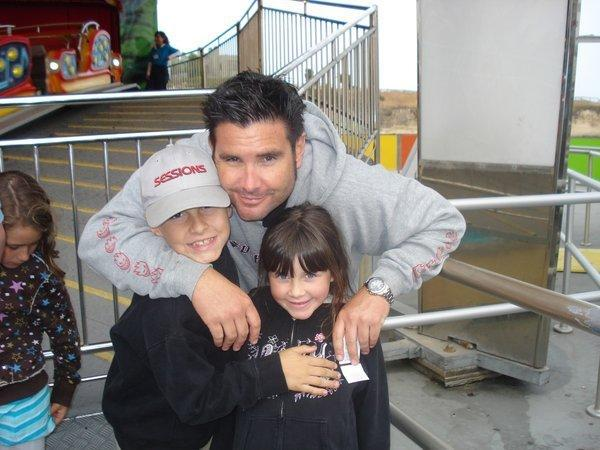 A photo taken before he was injured in 2011 shows Bryan Stow with his children.