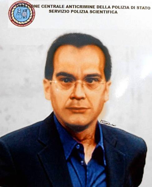 A computer-generated image released in 2007 by Italian police depicts how fugitive Mafia boss Matteo Messina Denaro may have appeared more recently. Now 51, he has been on the run from authorities since 1993.