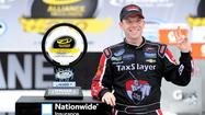 Points leader Regan Smith won the NASCAR Nationwide Series race at Michigan International Speedway on Saturday, holding off Kyle Larson in the final 10 laps.