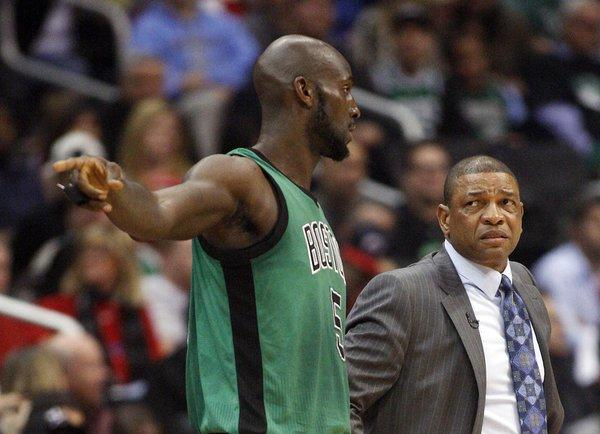 Talks between the Clippers and Boston that would send the Celtics' Kevin Garnett and Coach Doc Rivers to L.A. is said to be at a stalemate.