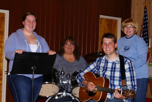 Heart and Soul will play contemporary Christian music at Bethesdas annual community picnic June 25. Group members are from different Lutheran churches in the area. From left are vocalist Sanessa Lindemann, drummer and vocalist Peggy Jo Larson, guitarist and vocalist Cody Swanson, and Karen Mikkelson, who handles keyboard and vocals.