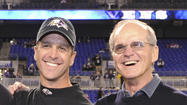 Jack Harbaugh is a fixture at Ravens practices, games and meetings, often speaking to the team or passing on his thoughts privately to coach John Harbaugh.