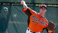 Right-hander Dylan Bundy, the Orioles' top prospect, will continue the progression in his throwing program as he returns from right forearm and elbow stiffness that has sidelined him this spring.