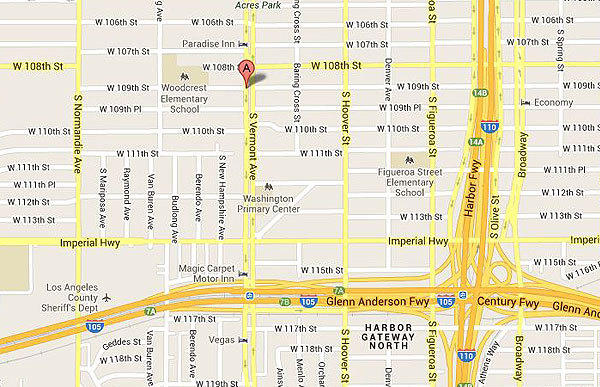 Map shows location of where a man was fatally shot in South L.A.