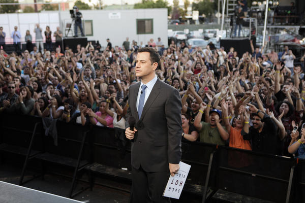 Jimmy Kimmel shown during his show.