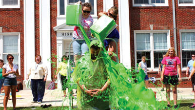 High School principal Bill Deal goes green.