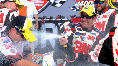 Greg Biffle wins second in a row at Michigan