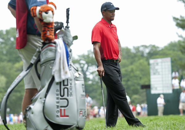 Tiger Woods during the final round of The U.S. Open at the Merion Golf Club on Sunday.