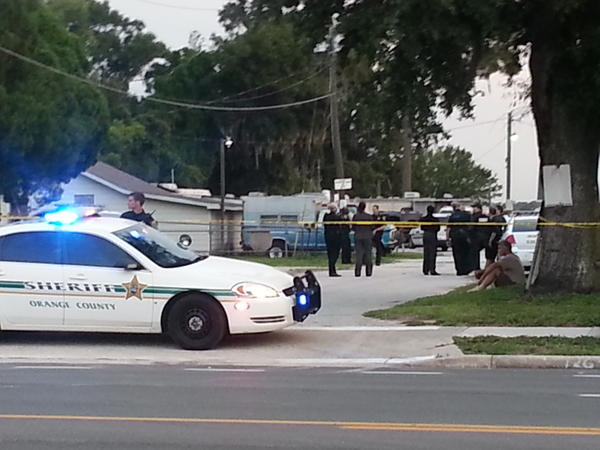 Deputy-involved shooting in Orange County on Sunday. (Erica Rodriguez, Orlando Sentinel)