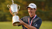 Justin Rose speaks to the press after winning the U.S. Open