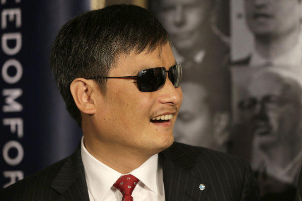 Chinese human rights activist Chen Guangcheng in May.