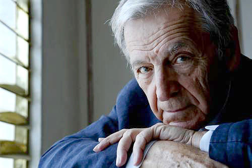Filmmaker Costa-Gavras at the London Hotel in West Hollywood.