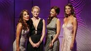 Presenters and nominees for the outstanding younger actress in a drama series award present the outstanding lead actress in a drama series award during the 40th annual Daytime Emmy Awards in Beverly Hills